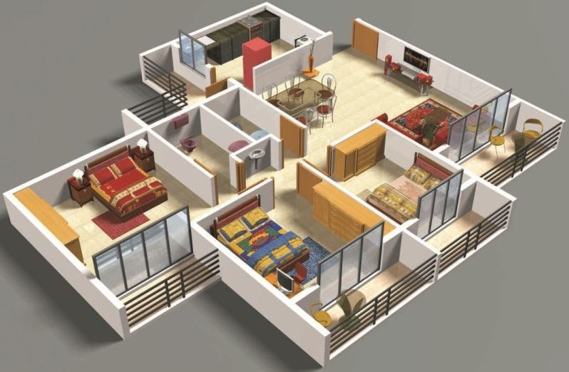 2.5BHK Floor Plan