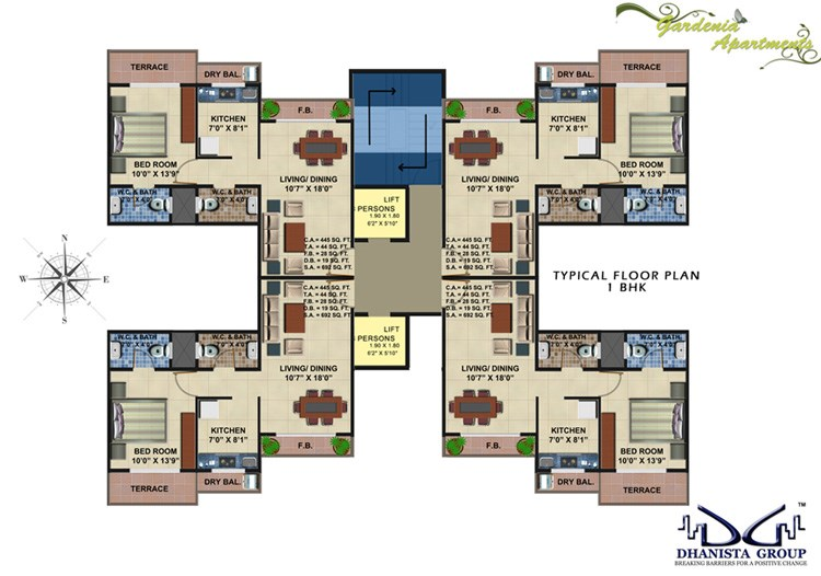 Gardenia Apartments Floor Plan