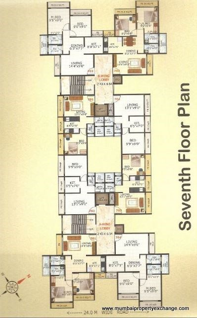 Riddhi Siddhi Apartment Floor Plan 1