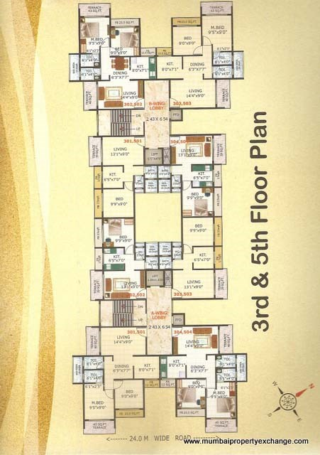 Riddhi Siddhi Apartment Floor Plan 3