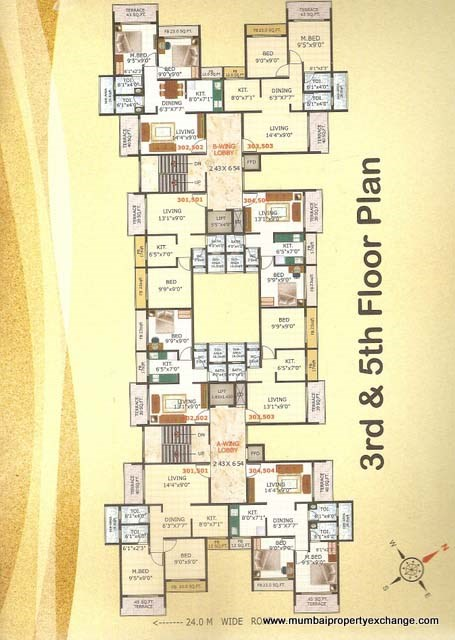 Riddhi Siddhi Apartment Floor Plan 6