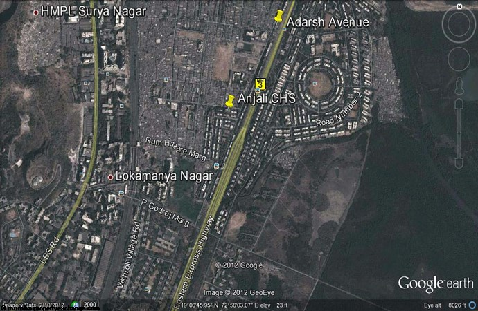 Adarsh Avenue Google Earth
