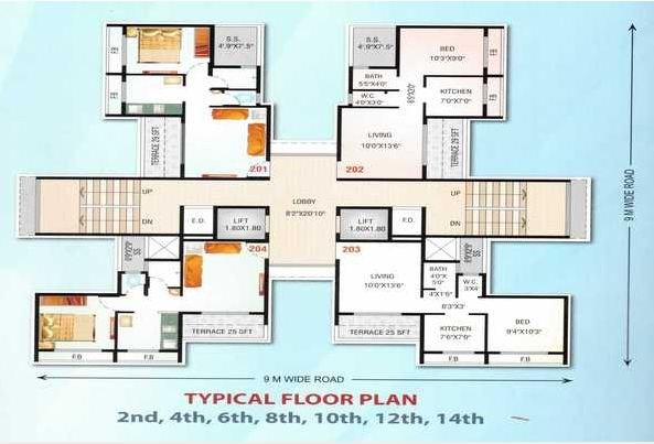 Mahavir Heritage Floor Plan