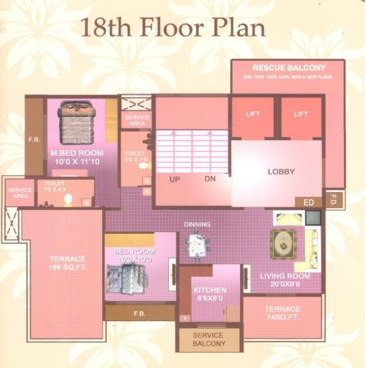 Sai Moreshwar Luxuria 18 Floor Plan