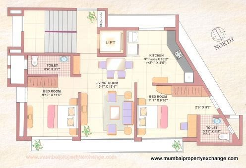 Blueberry floor plan