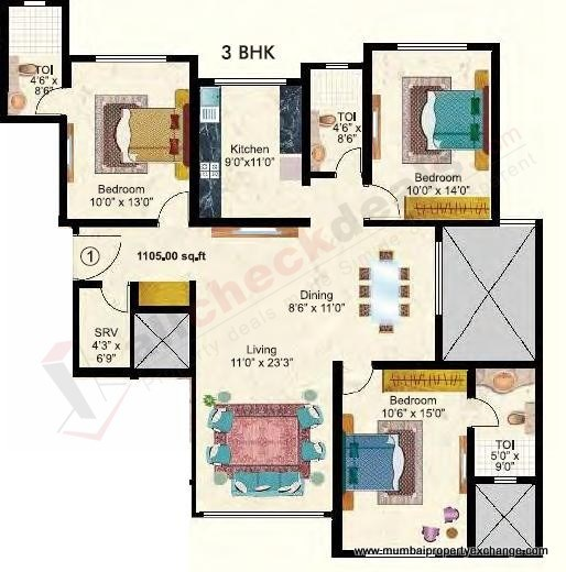 Maitri Park floor plan 3