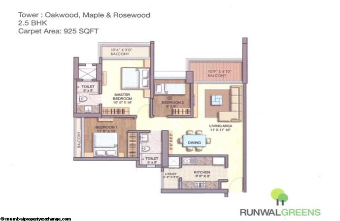 Runwal Greens Oakwood Floor Plan