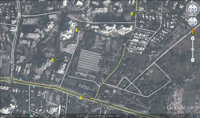 Godrej Serenity Google Earth