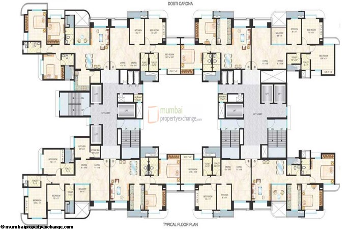 Dosti Imperia Ornata Ornate Floor Plan