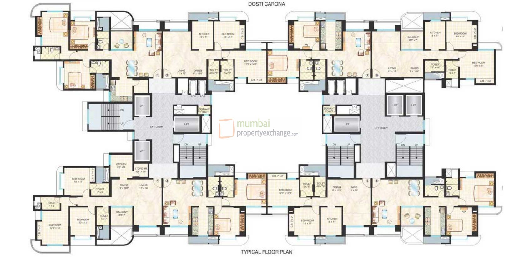 Ornate Floor Plan