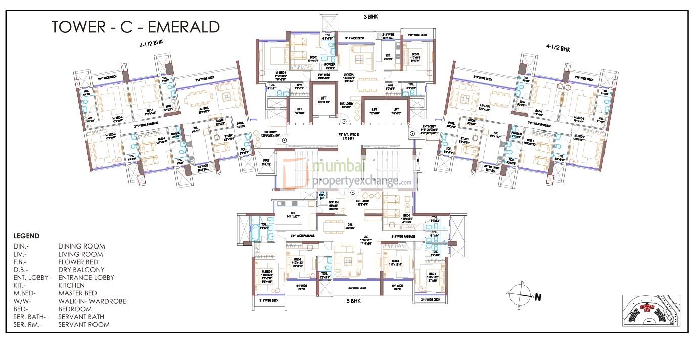 Runwal Elegante Tower C Floor Plan