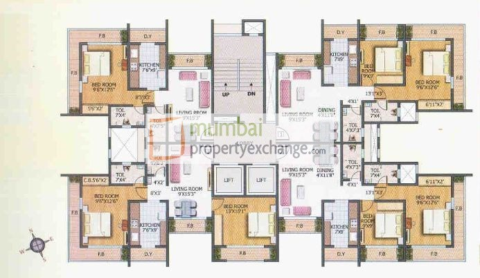 Agarwal Hamlet Tower Floor Plan