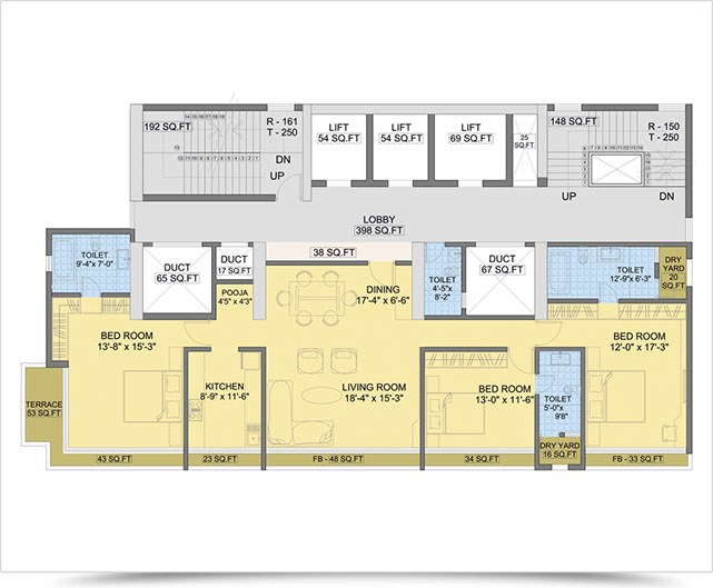 Shah Lotus Floor Plan