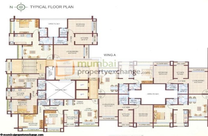 Peninsula Park Typical Floor Plan