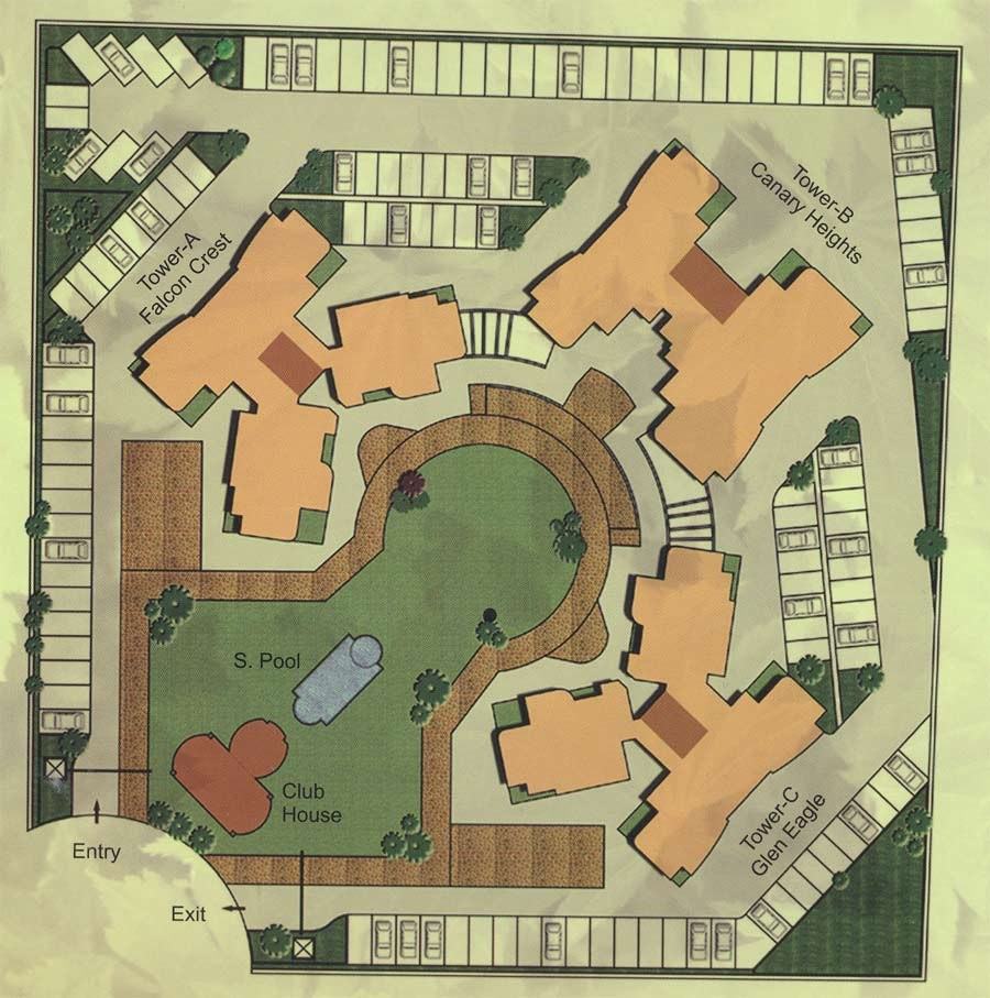 Raheja Sherwood Site Plan