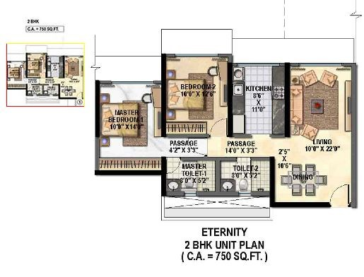 Raheja Reflection Eternity Floor Plan