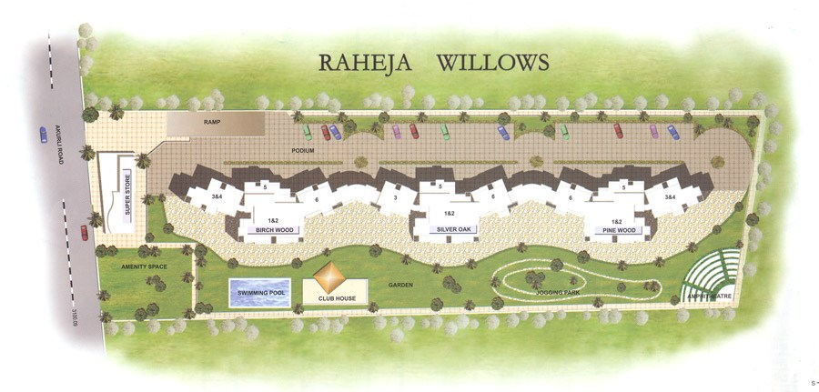 Raheja Willows Lay Out