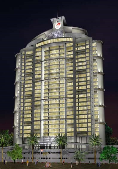 Raheja Atlantis Night Elevation