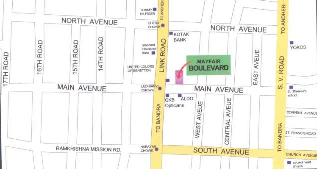 Mayfair Boulevard Location Plan