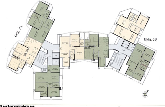 Kalpataru Estate Floor plan 6A