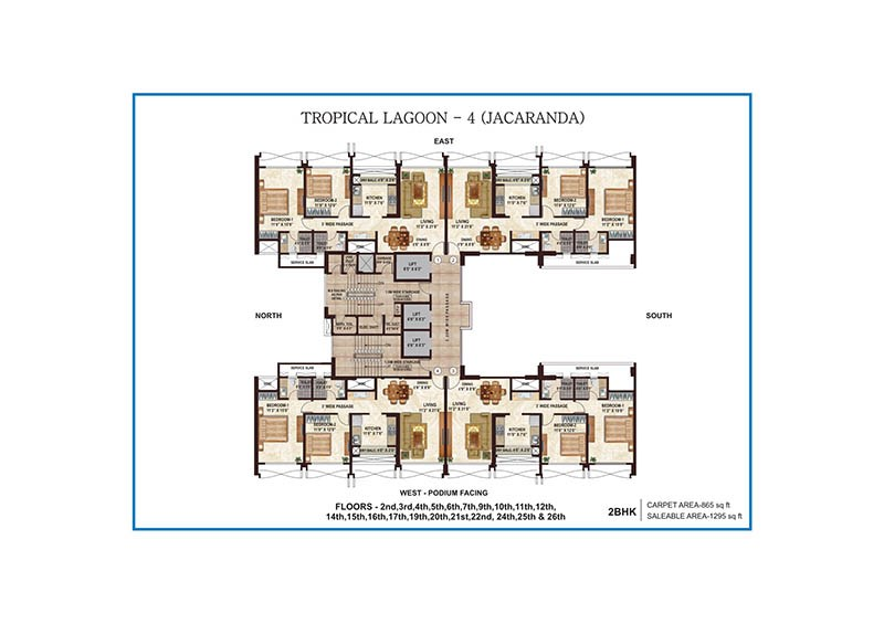 Tropical Lagoon Jacaranda Floor Plan