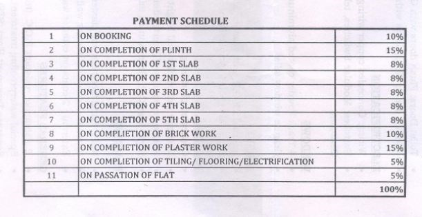 Omkar Royal Residency Payment Schedule