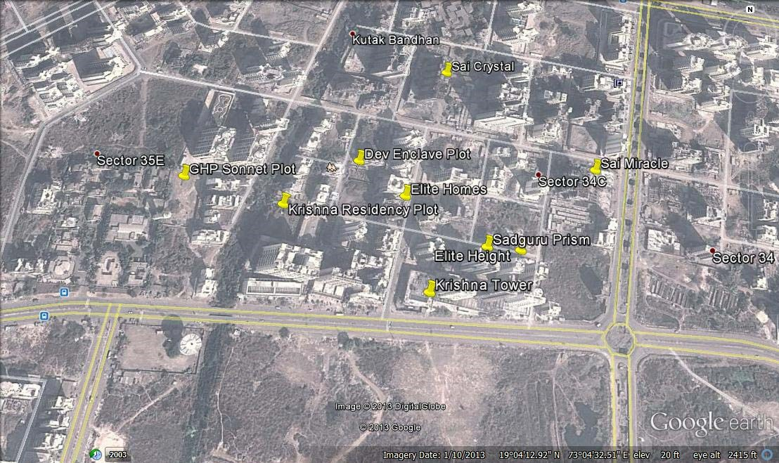 Krishna Residency Google Earth