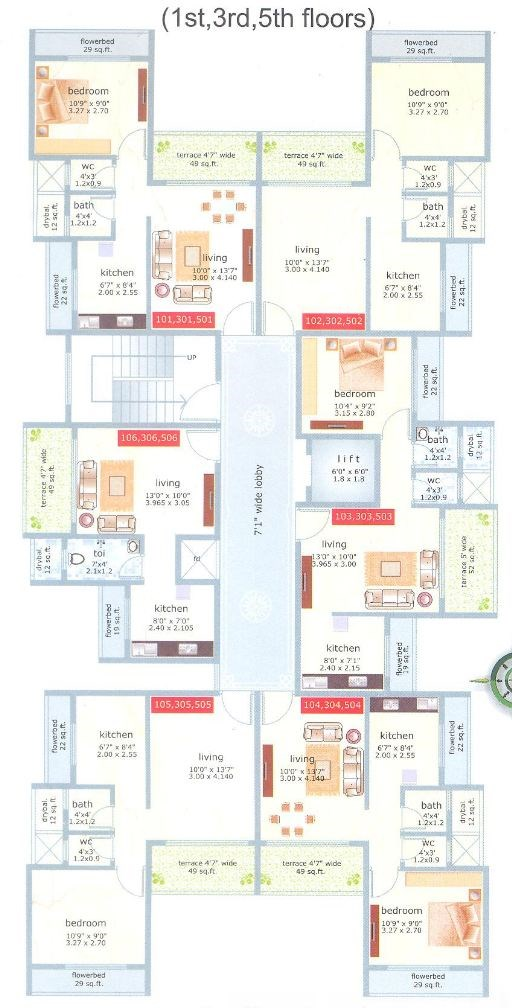 Hari Niwas Floor Plan