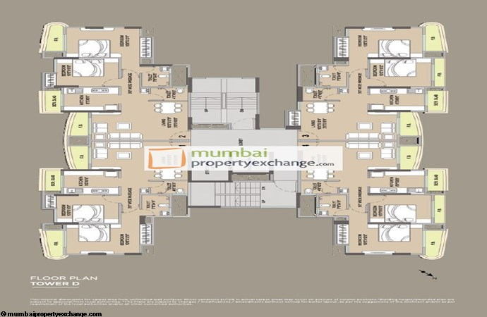 Vijay Residency Floor Plan Tower D