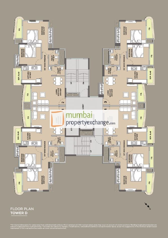 Floor Plan Tower D