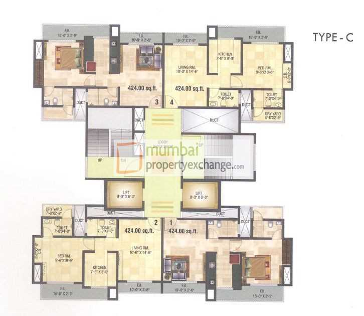 6871 Oth Floor Plan - 10 Degree North, Thane West
