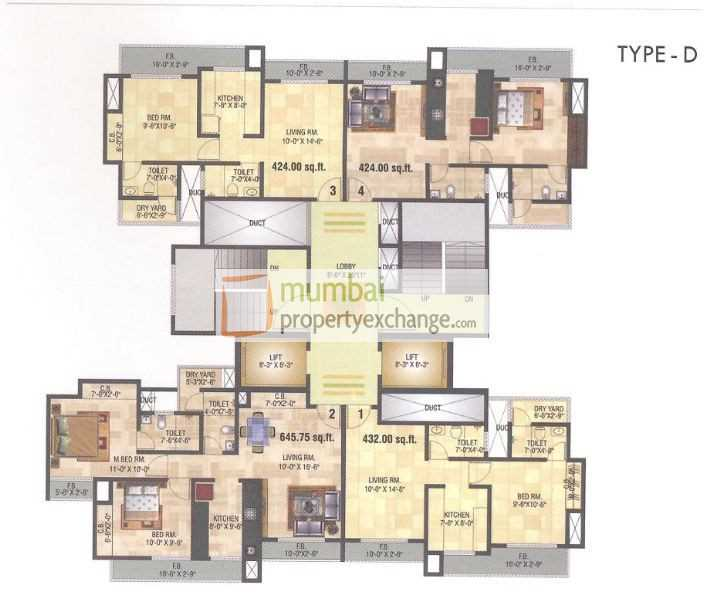 6871 Oth Floor Plan 1  - 10 Degree North, Thane West