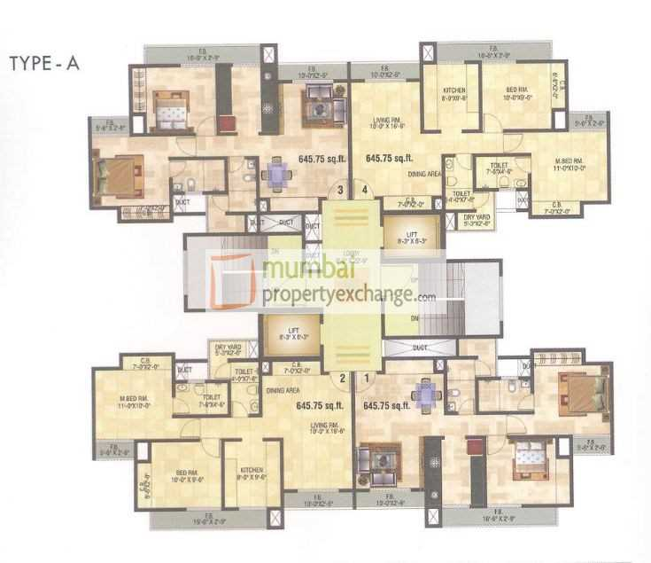 6871 Oth Floor Plan 2  - 10 Degree North, Thane West