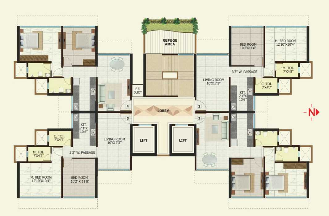 6888 Oth Floor Plan - Shri Ganesh Apartment, Goregaon West