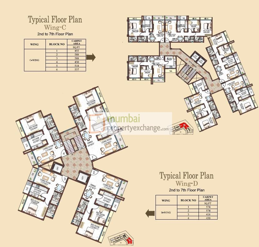 C wing Typical Floor Plan