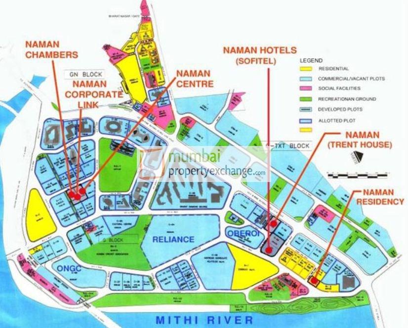 Flat on rent in Naman Residency, Bandra East