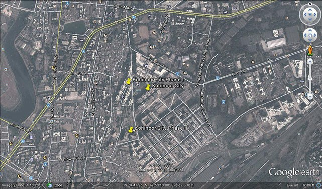 Kohinoor City Phase II Google Earth