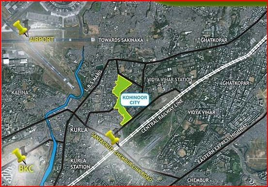 Kohinoor City Phase II Location Map