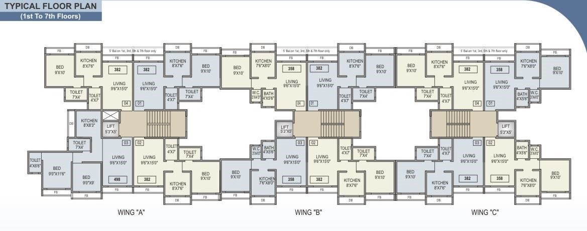 Bachraj Residency Floor Plan