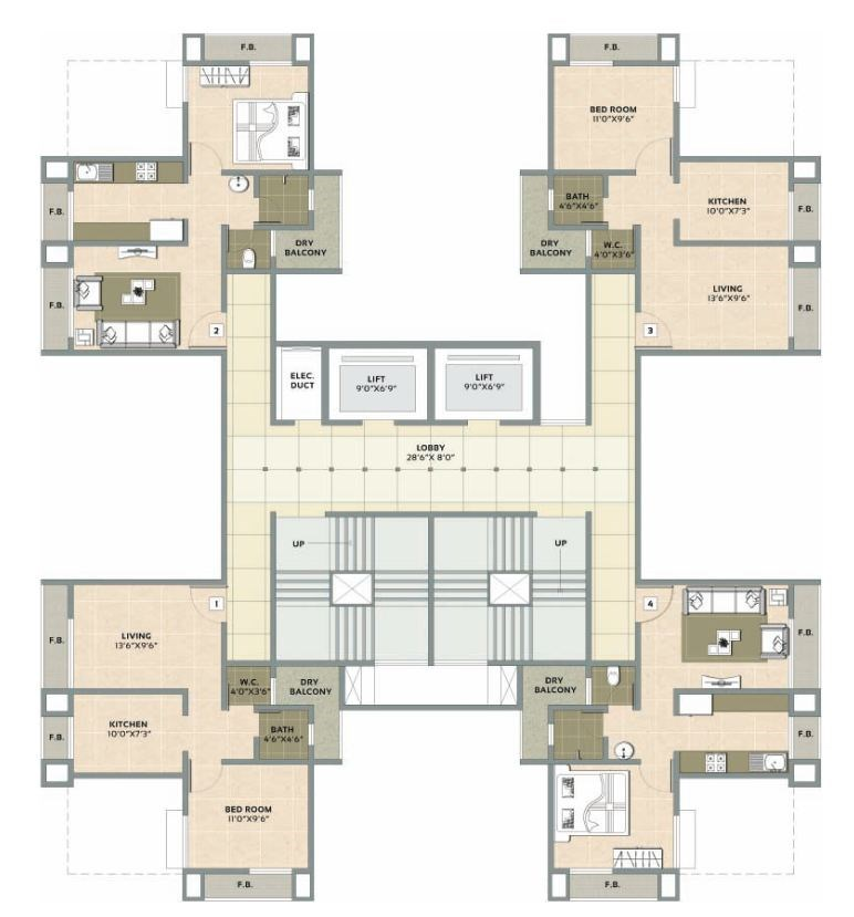Signature Residency Floor Plan