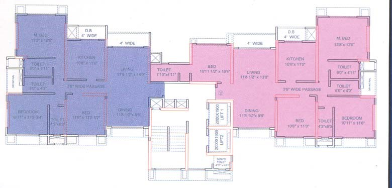 Runwal Pride C Wing Floor Plan