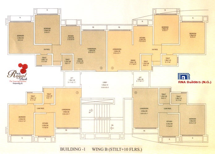 N G Royal Park Floor Plan