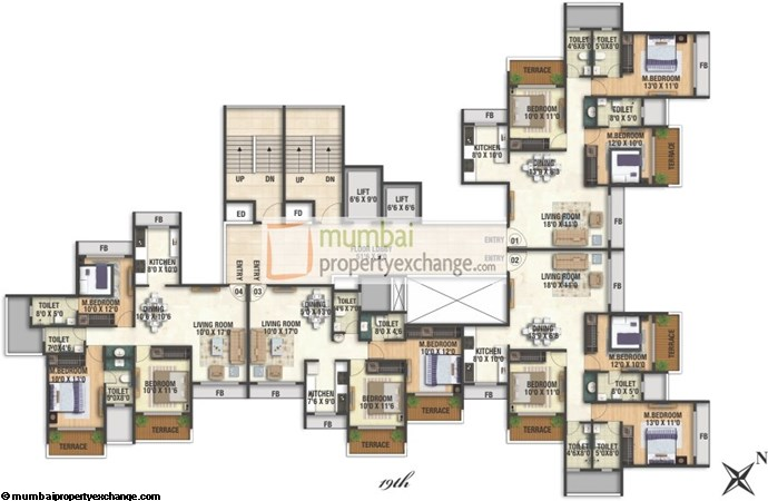 Balaji Heritage 19th floor plan