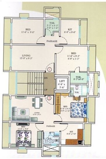 Lobo Apartment Floor Plan