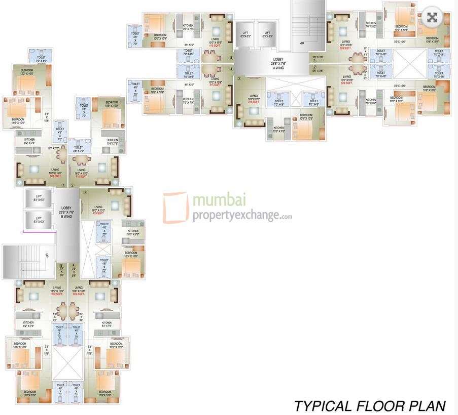 The Solitaire Floor Plan