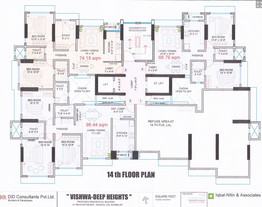 Vishwadeep Height Floor Plan