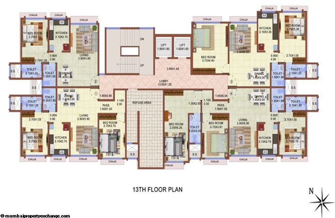 Vijay Lenyadri 13th Floor Plan
