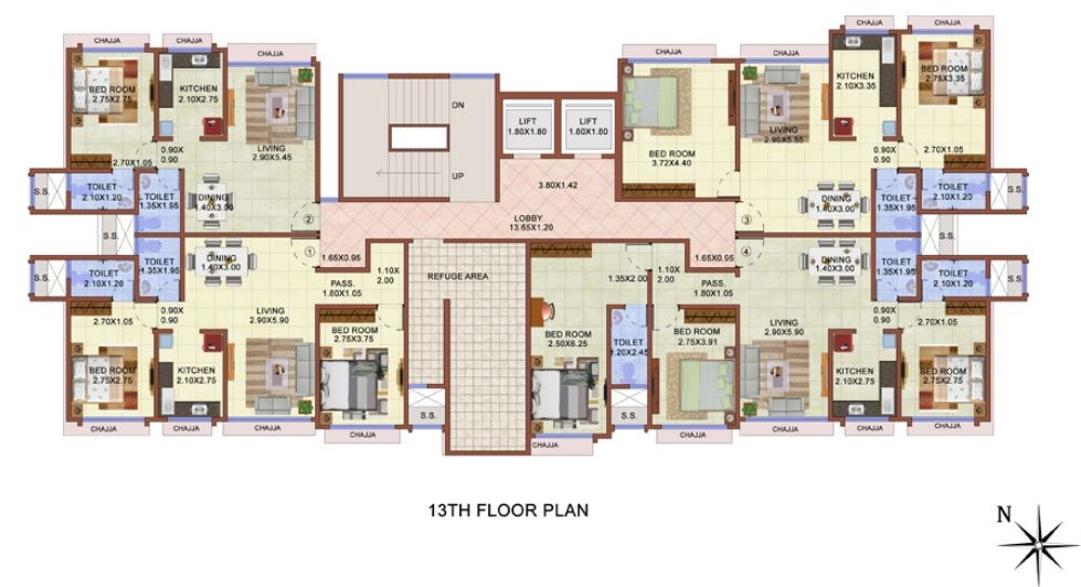 13th Floor Plan
