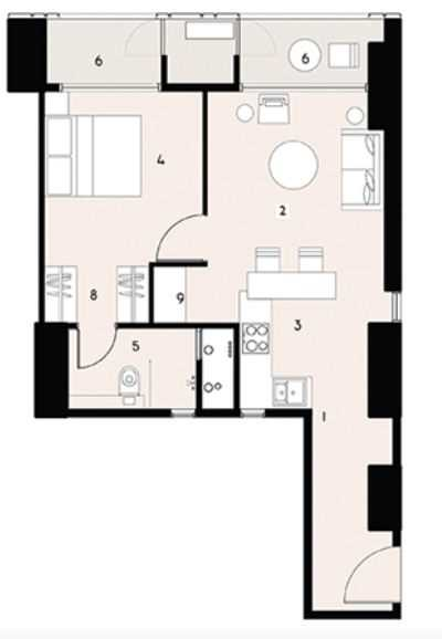 9277 Oth Floor Plan 1  - Lodha Enchante, Wadala