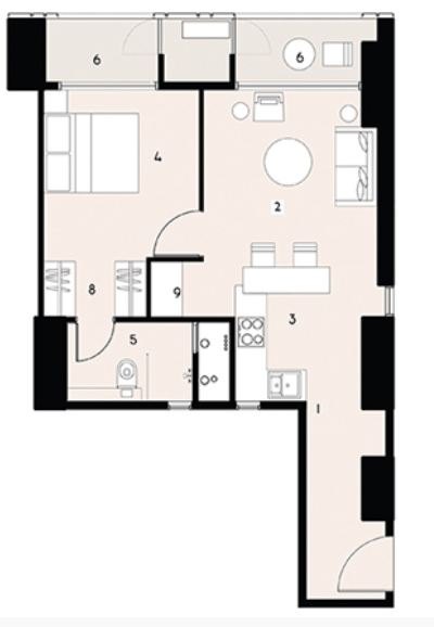9277 Oth Floor Plan 1  - Lodha Enchante, Wadala